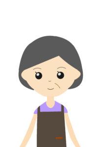 水道修理に安心した年配女性