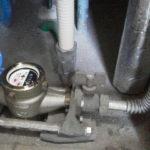 パイプスペース内の水道元栓