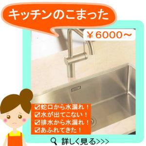 キッチン水漏れ・キッチン詰まり
