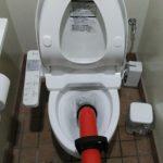 トイレ詰まり施工中